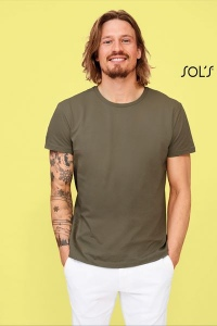 Produit personnalisé Tee shirt Homme Sol's Milo coton Organic T-shirt Bio
