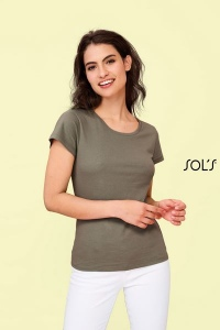 Produit personnalisé Tee shirt Femme Sol's Milo coton Organic T-shirt Bio
