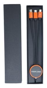 Produit personnalisable Cable de charge multifonctions lumineux pour telephone