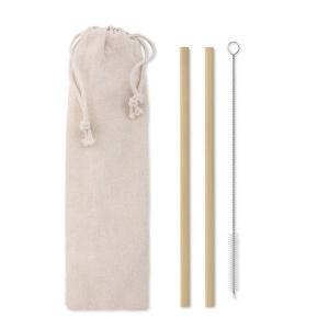 Produit personnalisable Paille reutilisable bambou