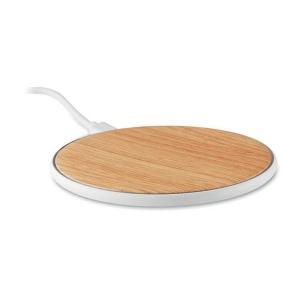 Produit personnalisable Chargeur telephone à induction Bambou