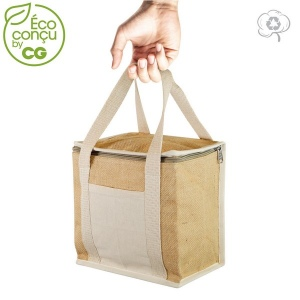 Produit personnalisable Lunch bag isotherme en Jute