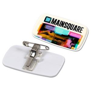 Produit personnalisable Badge pince-epingle pour quadridome