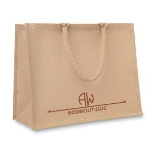Produit personnalisé Sac shopping personnalisable en jute et coton Sac personnalisé
