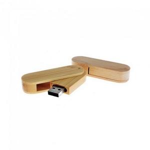 Produit personnalisé Clé USB BAMBOU publicitaire High Tech