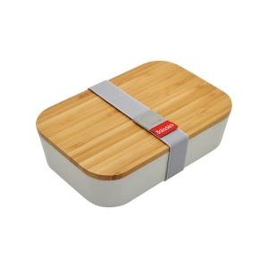 Produit personnalisé Bento en fibre de blé et couvercle en bambou Lunchbox bio