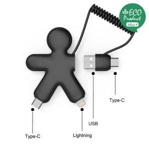 Produit personnalisé Câble de charge multi connecteurs XOOPAR promotionnel High Tech