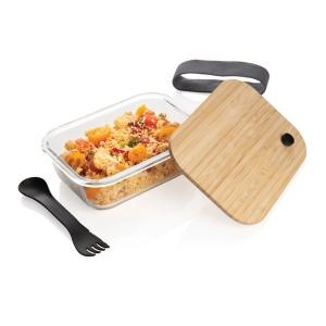 Produit personnalisé Kit boite à déjeuner éco-responsable (verre et bambou) Lunchbox bio
